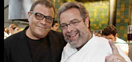 Stephen Starr (left) with another restaurant empire-builder, Drew Nieporent.