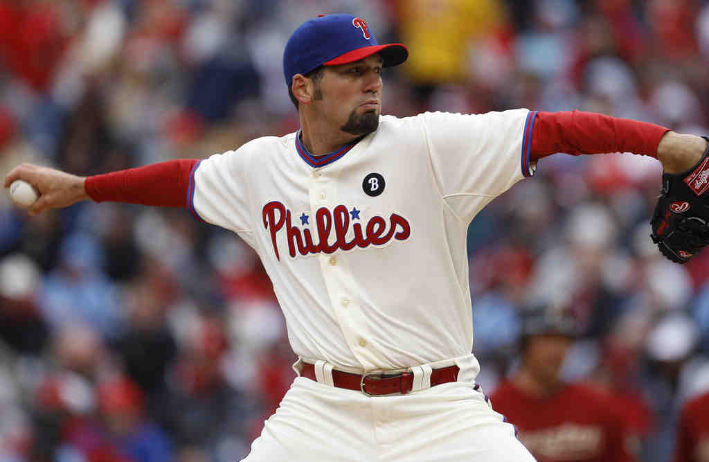 David Herndon had to bat in clutch when Phils ran out of relief.