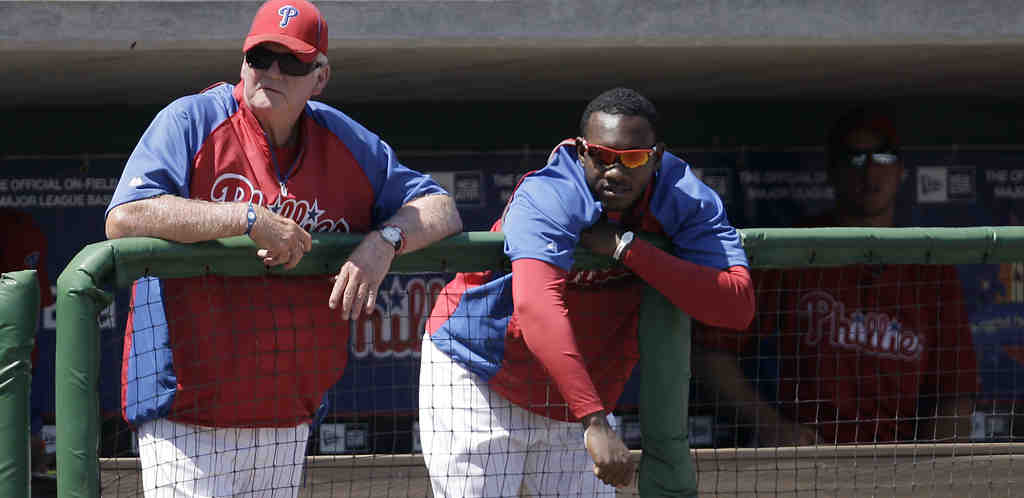 Charlie Manuel has to be pleased with the progress Domonic Brown has made since his short-lived winter-league appearance.