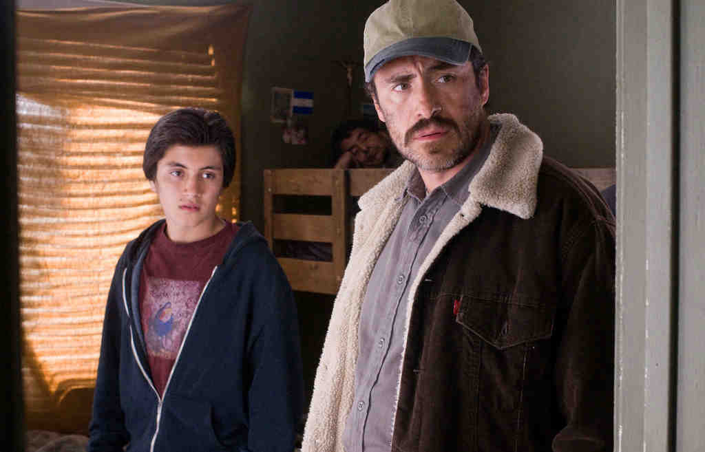 "José Julián stars as Luis and Demián Bichir as his father, Carlos, in ""A Better Life,"" which notes the irony that, while Carlos is in America illegally, he is a model citizen, unlike the native-born gangbangers luring his son."