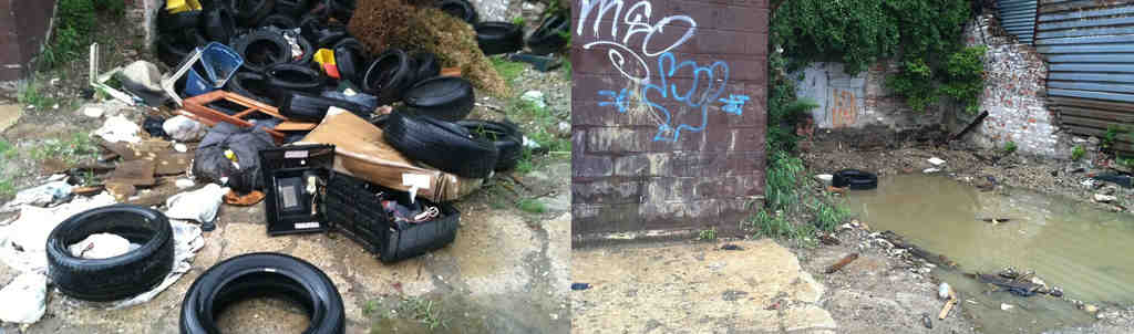 A before-and-after look at Merion Avenue in West Philly, where plenty of trash was cleared.