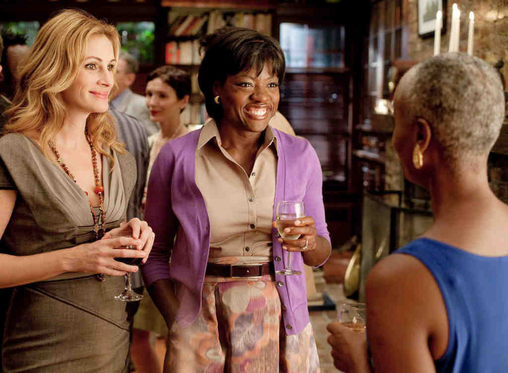 """In """"Eat Pray Love,"""" starring Julia Roberts, Viola Davis (center) plays the best friend - a common role for black women. """"I absolutely want roles for women, especially African American women, to be redefined,"""" Davis says."""