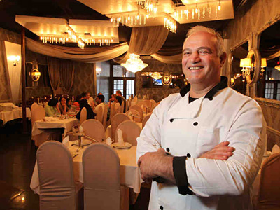 Teimurazi Kikvidze is owner and chef of the Feasterville restaurant. (Michael Bryant / Staff Photographer)