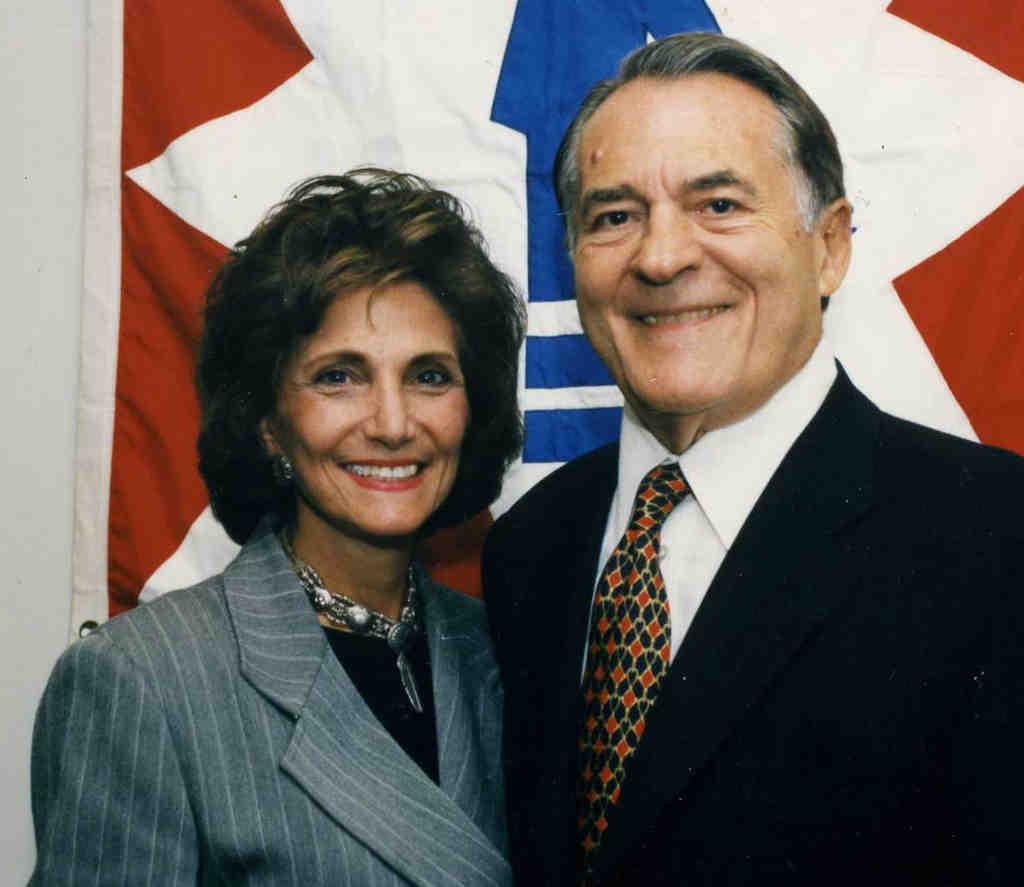 Jerome Shestack and wife, Marciarose,in 1997. He died last month at 88.