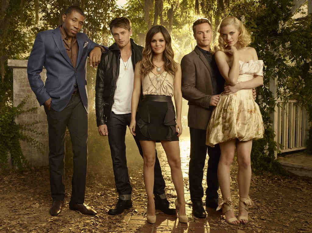 "The CW´s final premiere is ""Hart of Dixie,"" debuting Sept. 26 with (from left) Cress Williams, Wilson Bethel, Rachel Bilson as Dr. Zoe Hart, Jaime King, and Scott Porter."