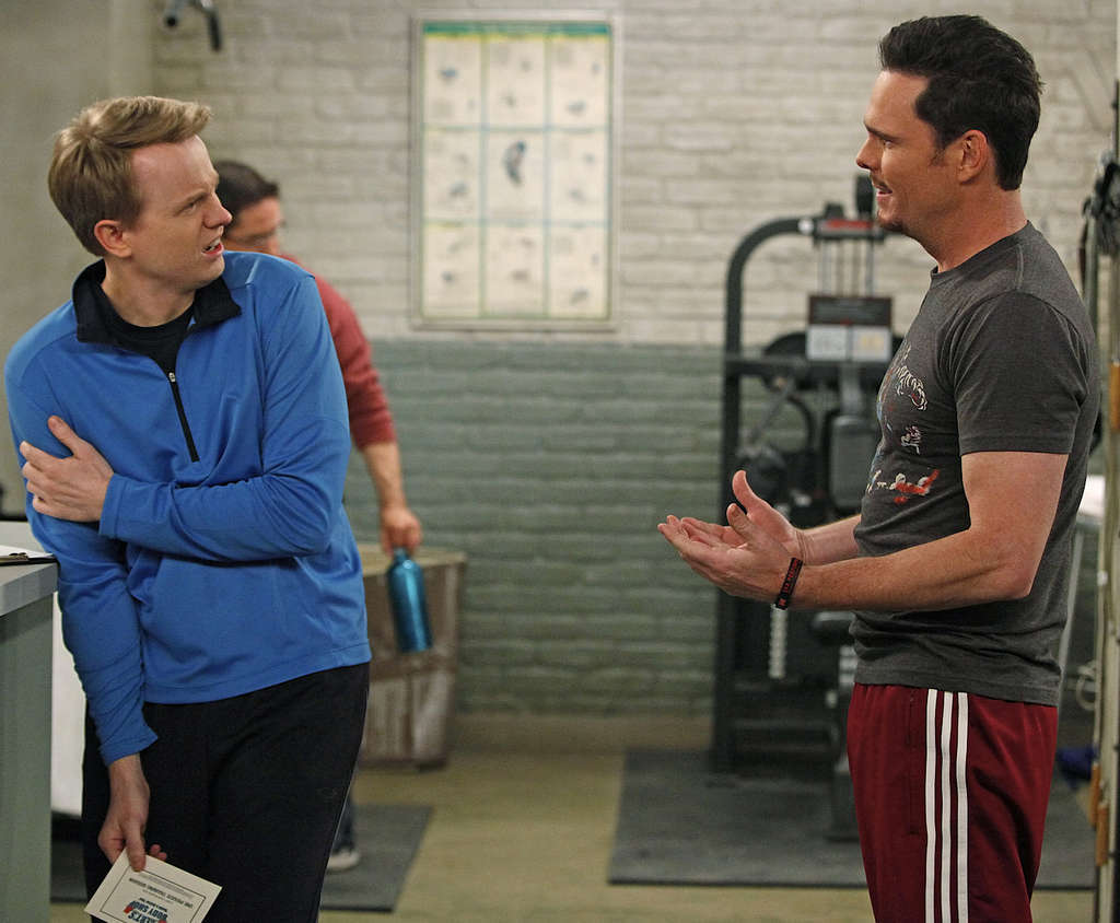 """How to Be a Gentleman"" stars David Hornsby (left) as an uptight columnist and Kevin Dillon as an unrefined personal trainer. The supporting cast is strong on comedic talent."