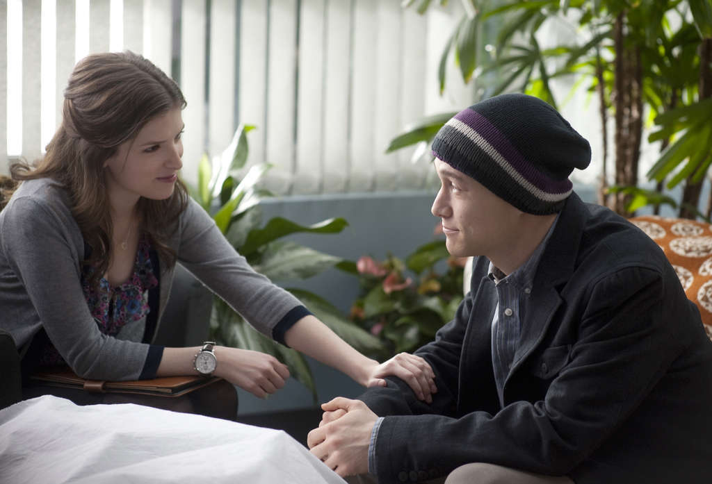 Anna Kendrick and Joseph Gordon-Levitt as a novice psychologist and her patient, each helping the other as they navigate a complicated relationship.