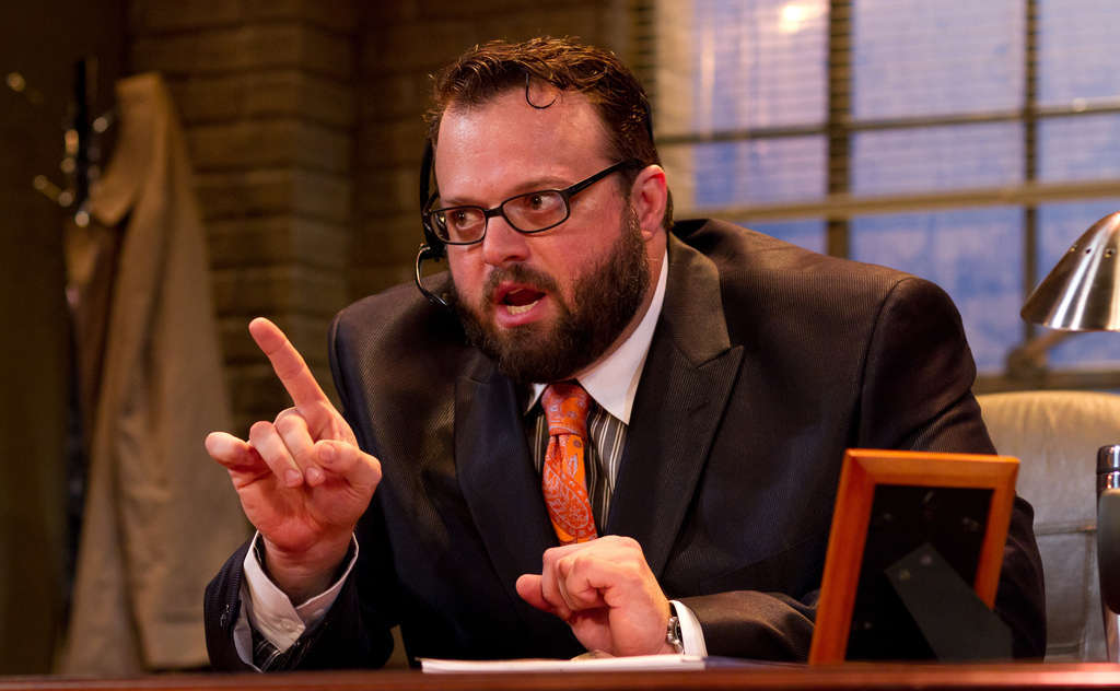 """Scott Greer is virtually alone onstage throughout """"Mistakes Were Made,"""" his performance 100 minutes of one-sided conversations with a playwright named Steven and other unseen characters. The play is """"about the creative predicament,"""" says author Craig Wright."""