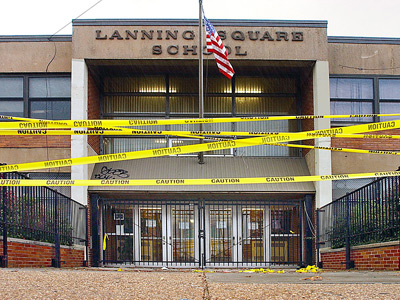 Lanning Square Elementary School in  Camden was closed in 2002 after engineers determined the building could fall. (John Costello / Staff photographer, file)