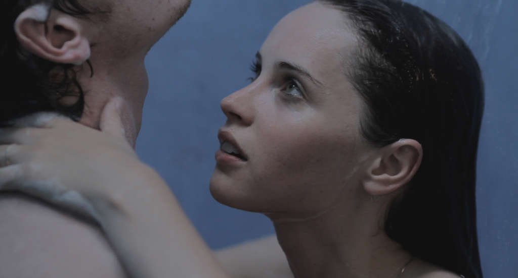 "Anton Yelchin, Felicity Jones in ""Like Crazy"": Girl and boy wonder wheth-er intimacy requires proximity."