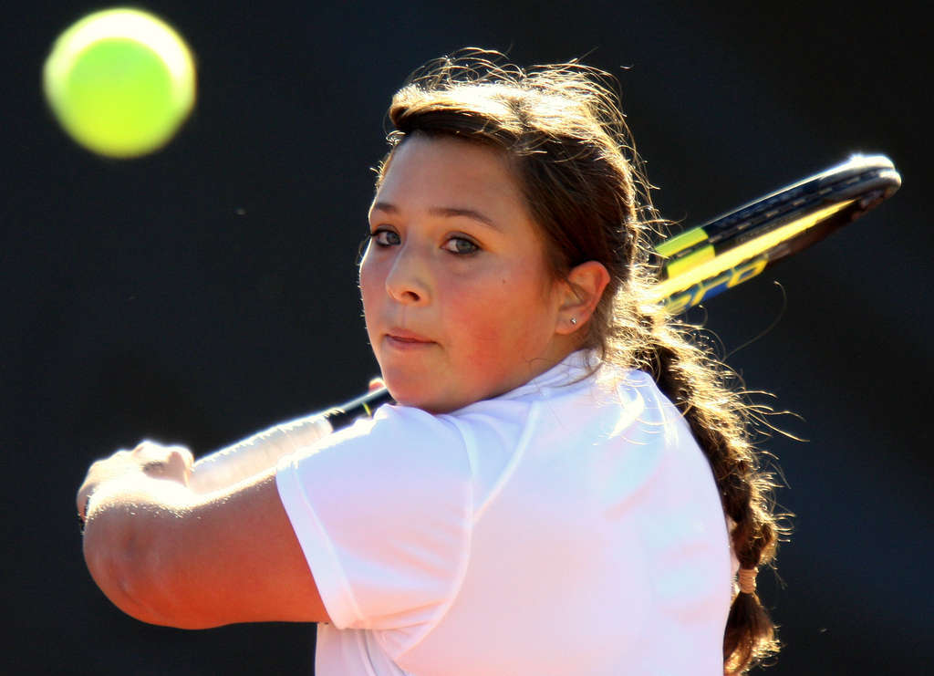 """Senior Marni Blumenthal , the No. 3 singles player, has been to three state team tournaments and won every time. She says the streak is """"nerve-racking"""" but also provides motivation."""