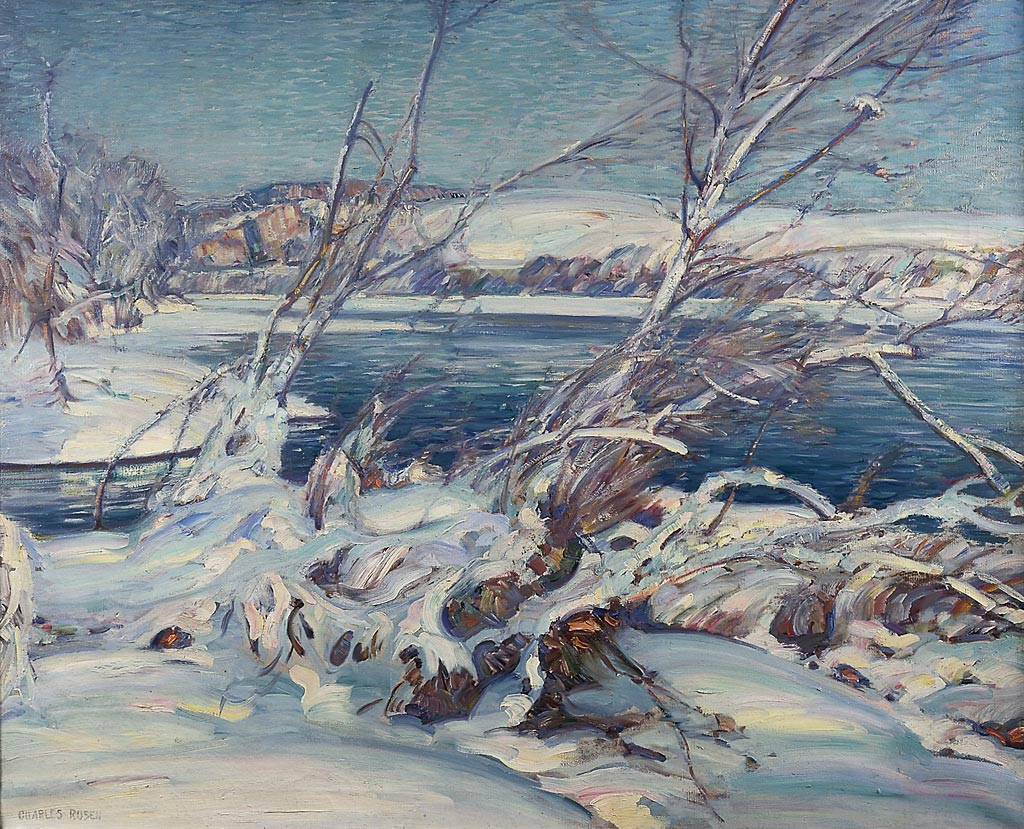 """Charles Rosen's """"The Frozen River,"""" one of the paintings included — and adeptly displayed and described — in """"The Painterly Voice."""""""
