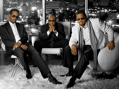 Boyz II Men (from left) Shawn Stockman, Wanya Morris, and Nathan Morris.