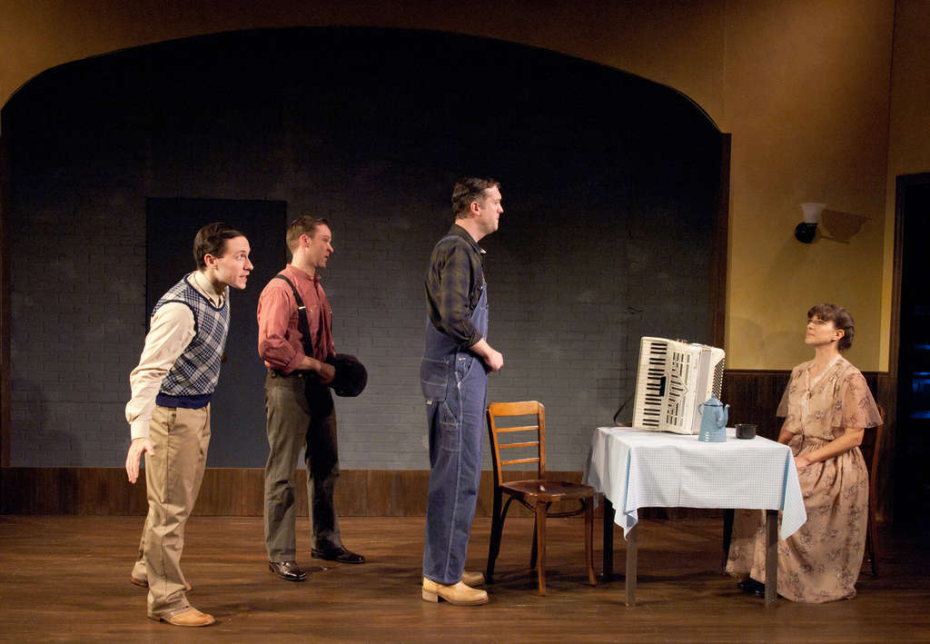 """""""Act a Lady"""" (from left) Jamison Foreman, Matt Tallman, Mike Dees, Leah Walton: """"About the power of a dress or a pair of trousers to unlock something in a person."""""""
