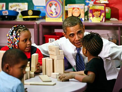 President Obama at Yeadon Head Start in 2011.  (Michael S. Wirtz / Staff Photographer)