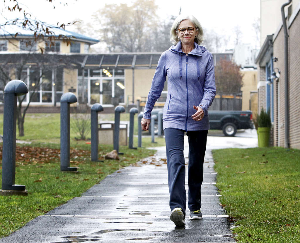 "Priscilla Sands, president of Springside Chestnut Hill Academy, takes daily 41/2-mile walks around the neighborhood with school trustees, parents, anyone willing to keep up. ""We have different conversations than we would have in an office,"" says the school´s CFO."