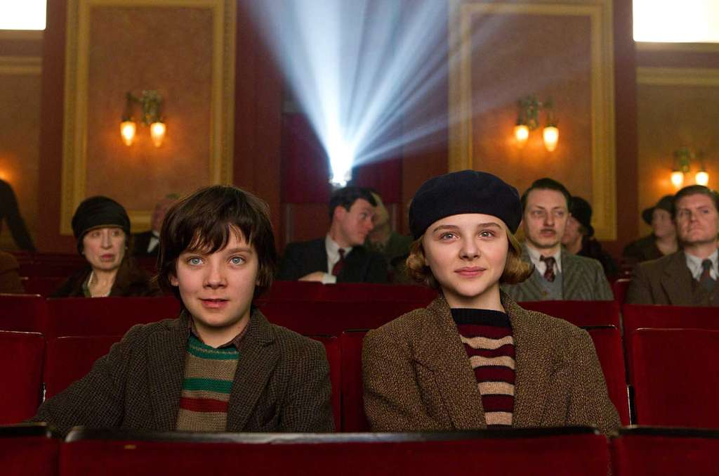Asa Butterfield and Chloe Moretz take in a movie.