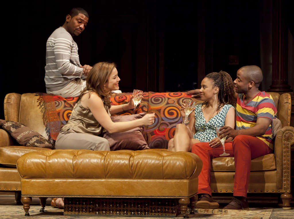 """From left, Mekhi Phifer, Rosie Benton, Tracie Thoms, and Dulé Hill. """"Stick Fly,"""" presented at Princeton´s McCarter Theatre in 2007, is now even stronger, smoother, and more affecting."""