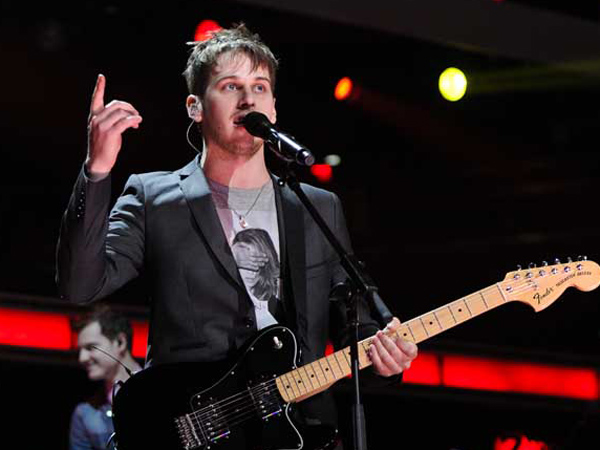 Musician Mark Foster and his band Foster The People perform at Z100´s Jingle Ball concert at Madison Square Garden on Friday, Dec. 9, 2011 in New York. (AP Photo/Evan Agostini)