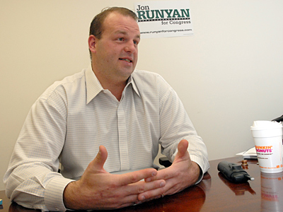 U.S. Rep. Jon Runyan, elected in 2010, may face a more northern constituency. (April Saul / Staff Photographer)