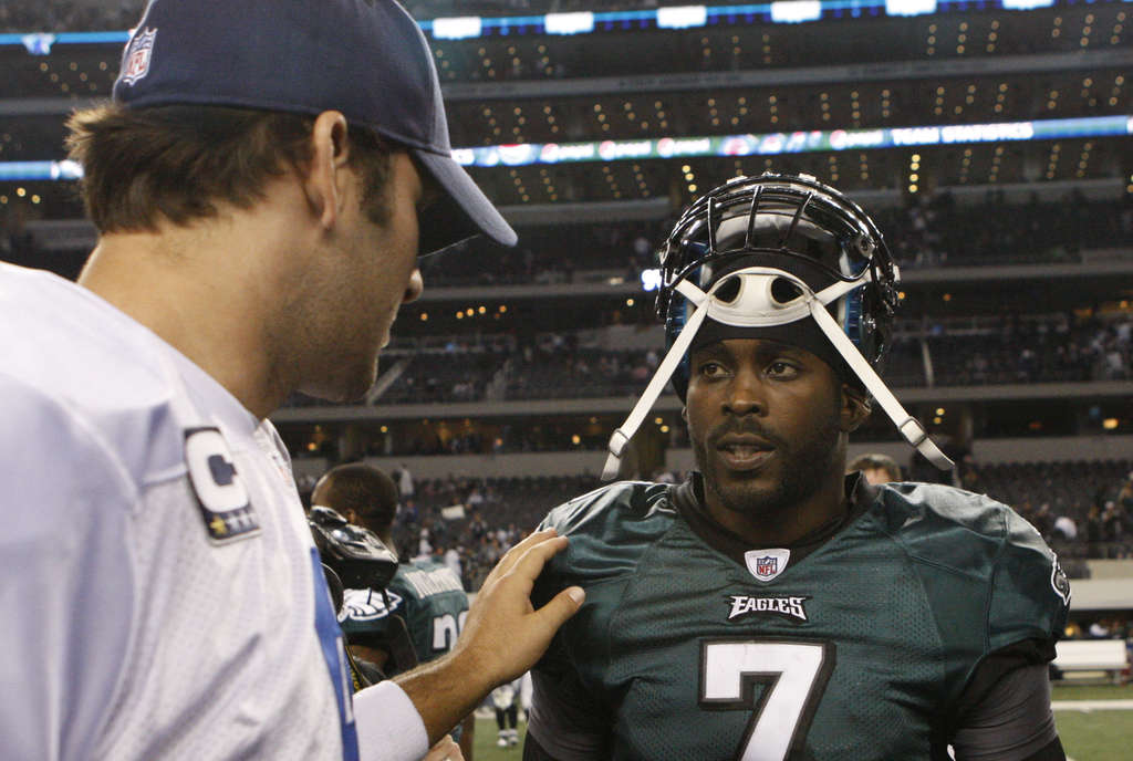 Michael Vick (right) said the Eagles lacked the necessary character early in the season.