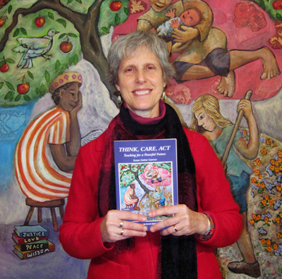 "Susan Gelber Cannon teaches English, history, Model UN, peacekeeping at Episcopal Academy in Newtown, and recently published her book, ""Think, Care, Act: Teaching for a Peaceful Future."""