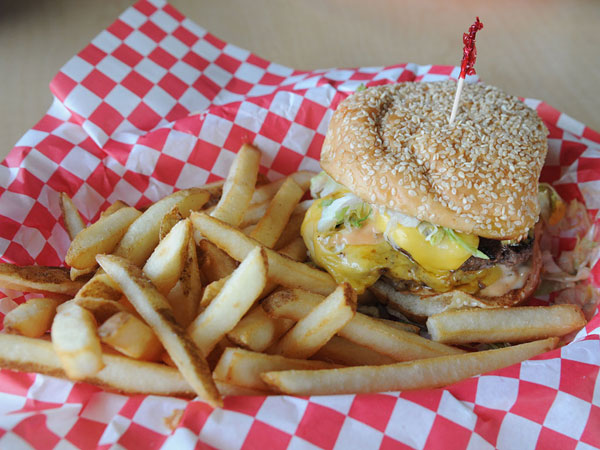 The Gino Giant, signature sandwich at Gino´s Burgers & Chicken.  (SARAH J. GLOVER / Staff Photographer)