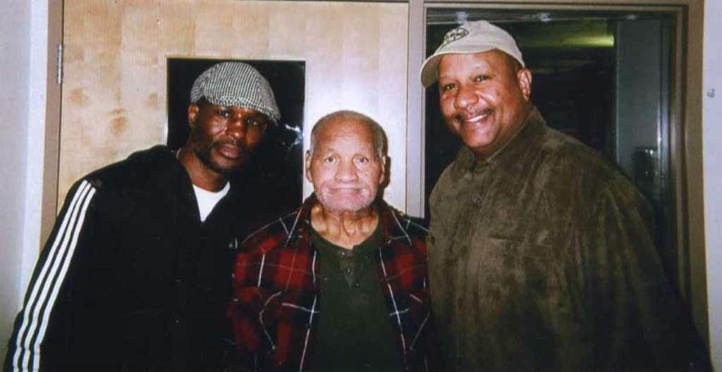 Boxers (from left) Bernard Hopkins, Harold Johnson and Rev. John Roberts