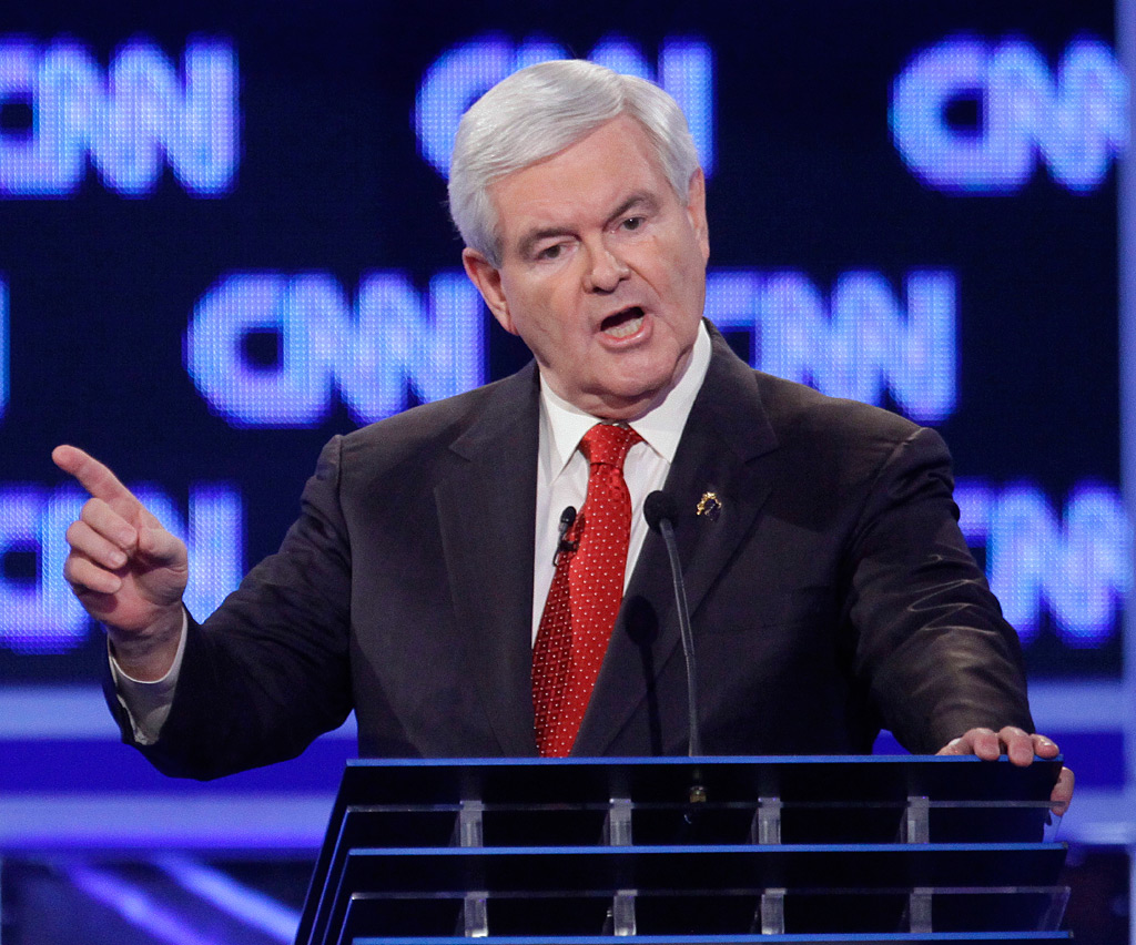 "Newt Gingrich earned an ovation for citing the media´s ""destructive, vicious, negative nature."""