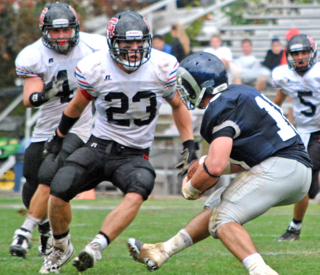 Germantown Academy´s Keith Corliss, 23, lost most of his senior football season to a sternum injury, and with it, the interest of Princeton.