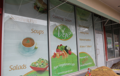 Vge Café, which could open as early as March, is located at 845 West Lancaster Ave.