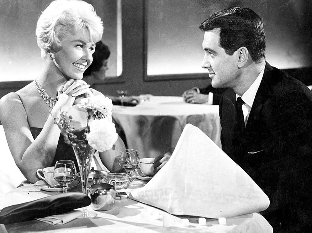 "Doris Day and Rock Hudson in ""Pillow Talk"" in the 1950s, when Hudson was in the closet and gay marriage wasn´t discussed."