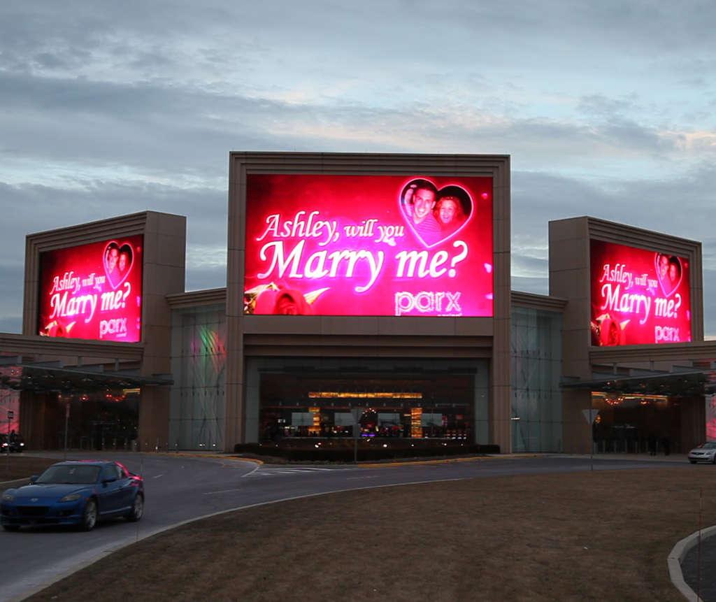 "A Bensalem man gambled on his girlfriend accepting his proposal at Parx Casino this week. See ""Parx´s proposal "" below."