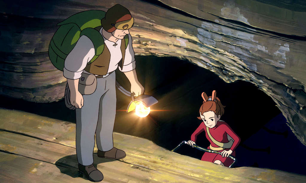 "Arrietty, a very, very little girl, accompanies her father, Pod, on a mission to find food without being noticed by their host humans in ""The Secret World of Arrietty."""