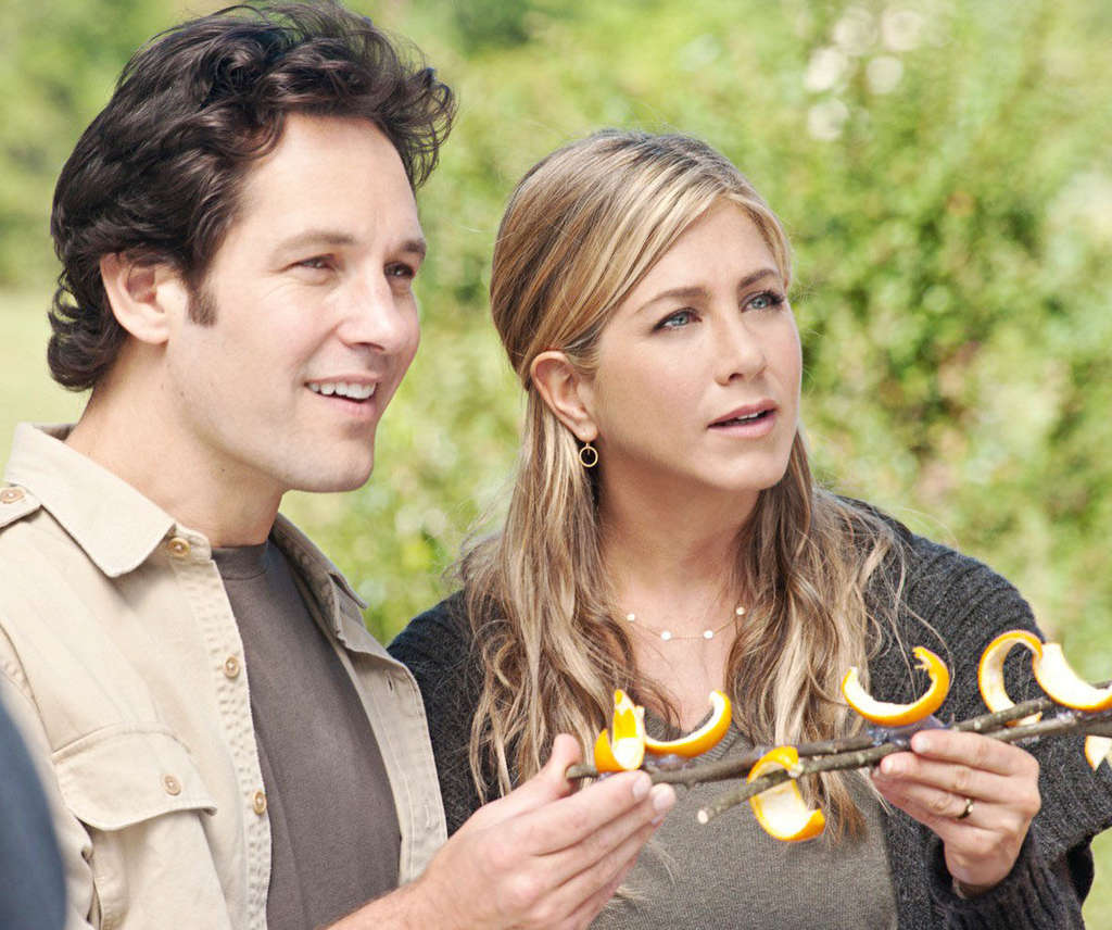 Paul Rudd, Jennifer Aniston as a couple trying to figure out life and love in a cramped studio, an Atlanta McMansion, and a no-rules commune.