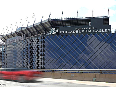 An artist´s view of solar panels at Lincoln Financial Field. The installation is due to be completed by December.