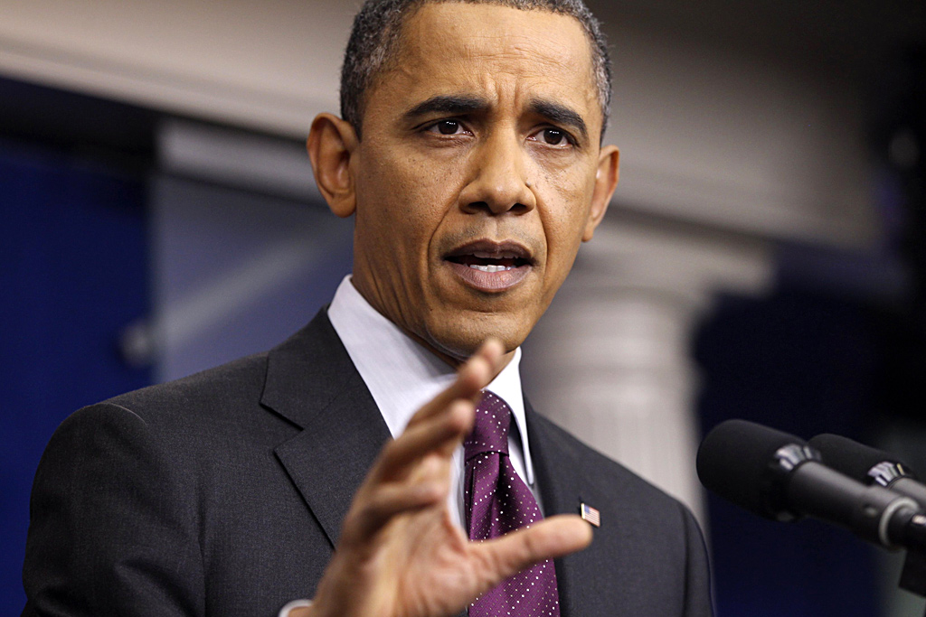 President Obama launching an extended smackdown of rivals.