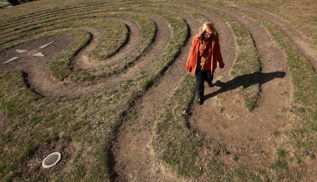 Unlike a maze, a labyrinth has no dead ends, no false paths.