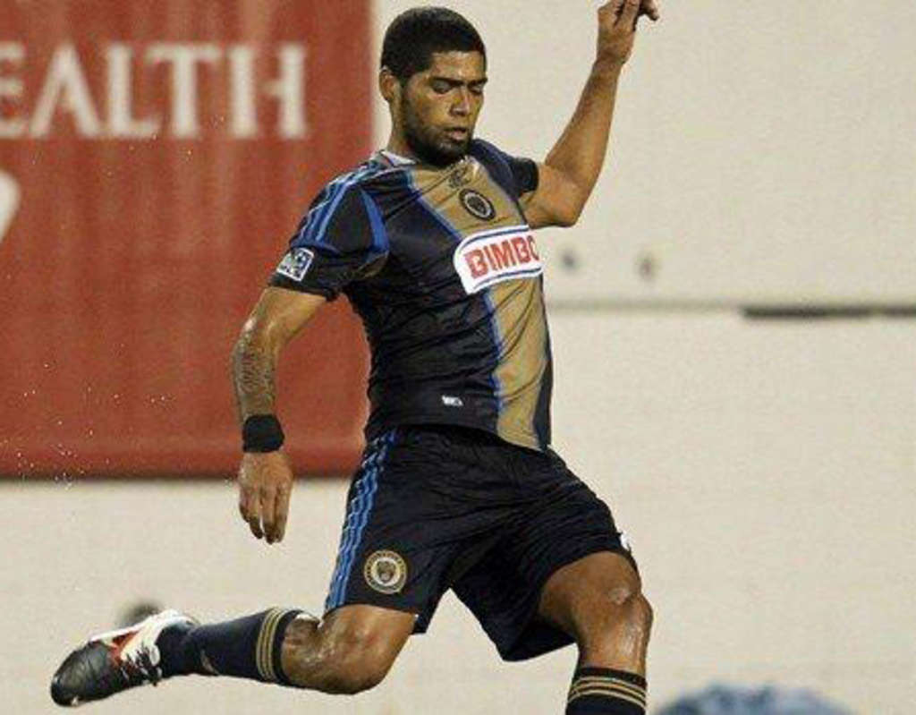 Gabriel Gomez scored the Union´s first goal of the season, on a free kick against Portland.