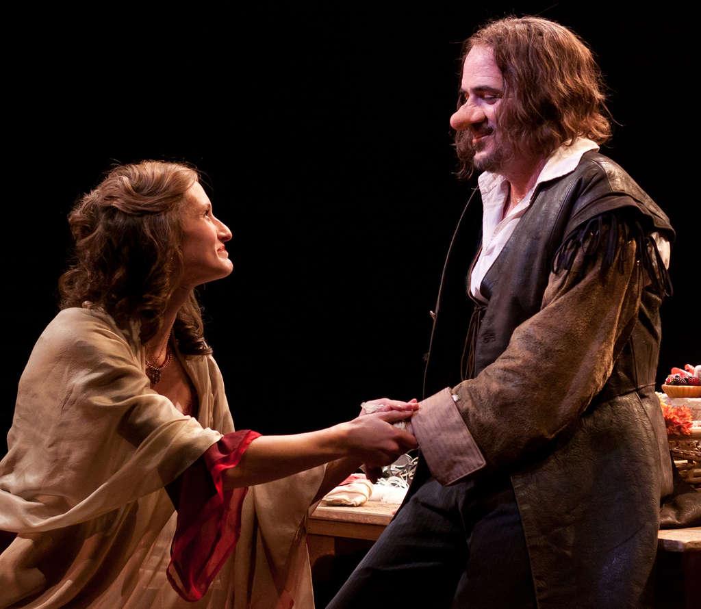 "and Eric Hissom as Cyrano in Arden Theatre Company´s production of ""Cyrano."" MARK GARVIN"