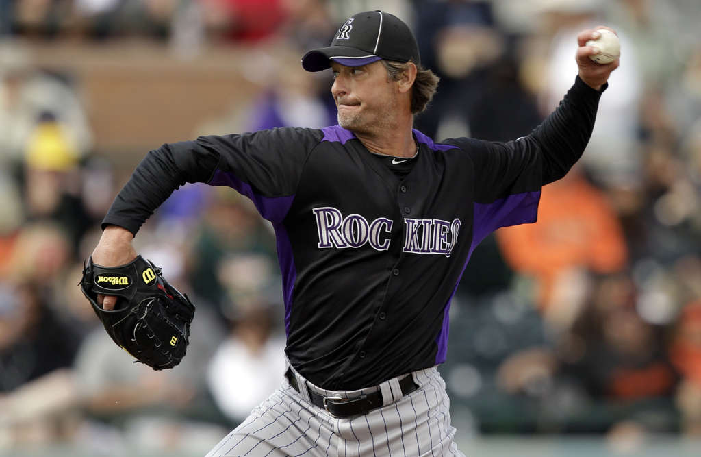 Jamie Moyer is out to prove this spring that, at 49 and coming off Tommy John surgery, he can still get major league hitters out. The Colorado Rockies are giving him the chance.