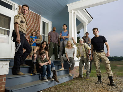 Just down the road from a tiny country church in rural Georgia, the apocalypse has already arrived. A band of scrappy survivors are fighting the undead, camping in the woods in hopes of outrunning the hordes of zombies roaming their world. (AP Photo / AMC, Gene Page)