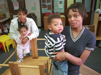 A teenage mother is at greater risk than women over 20 years of age for pregnancy complications such as premature labor, anemia and high blood pressure.  And teen mothers under the age of 15 are at even greater risk. (AP Photo/Dawn Villella)
