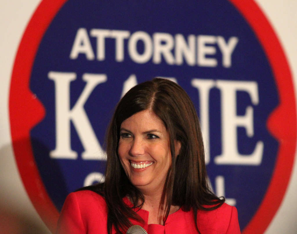 Kathleen Kane after winning the Democratic nod for attorney general. She hopes to be the first Democrat and first woman elected to the state office.