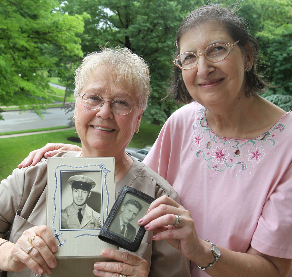 Ruthie Joyce and Jeannie Paul (right) lost their fathers in 1944. Now, for the first time, both women will mark Memorial Day near where their fathers died.