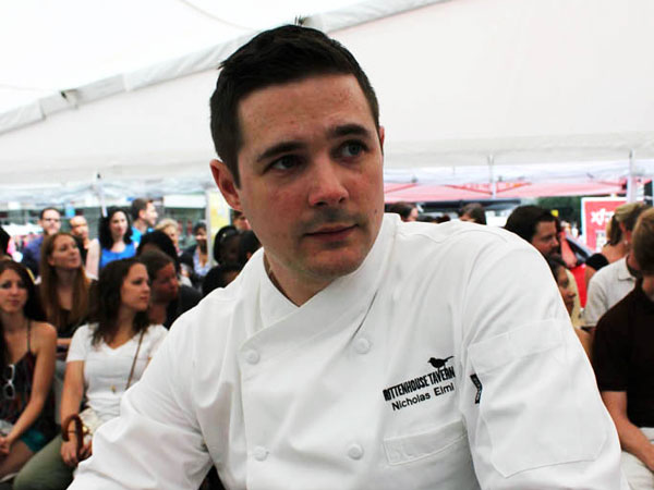 "Chef Nicholas Elmi at  a ""Top Chef"" event in 2012."