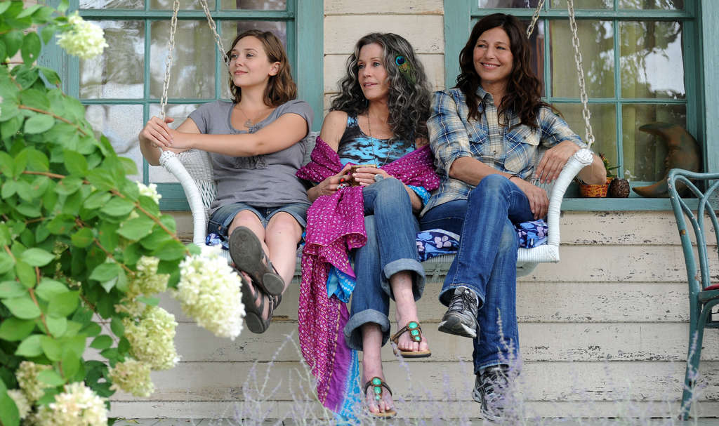 From left, Elizabeth Olsen, Jane Fonda, and Catherine Keener. IFC Films