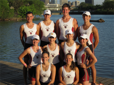 "The ""Stoga Henley 10"" of the Conestoga High School Crew Club will compete in the two world-renowned regattas in England. (top row left to right) Men's Varsity Quad: Nick Nalbone, Mike DiLucca, Cuyler Hamilton and Captain Ben Morosse. (middle row) Women's Varsity Quad: Meagan Hudson, Rebecca Simonetti, Maddy Tessier-Kay, Anne Graf. (bottom row) Women's Varsity Double: Nicole DeStefano, Captain Ali Siegele."