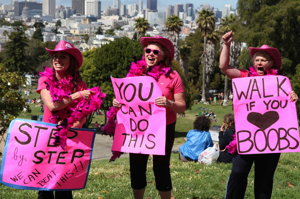 The film is a critique of corporations that use walks and runs for the breast-cancer cause as marketing opportunities for products.