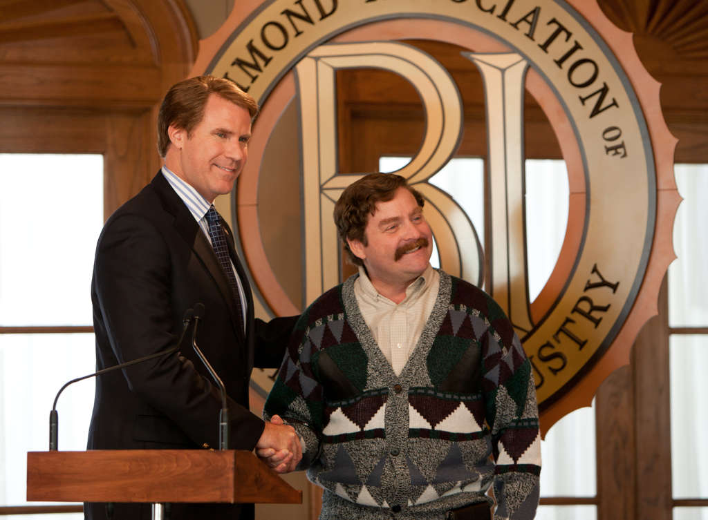 "In ""The Campaign,"" Will Ferrell (left) is the Democratic congressman and Zach Galifianakis the Republican challenging him. Though it´s farce, the film offers weightier ideas."